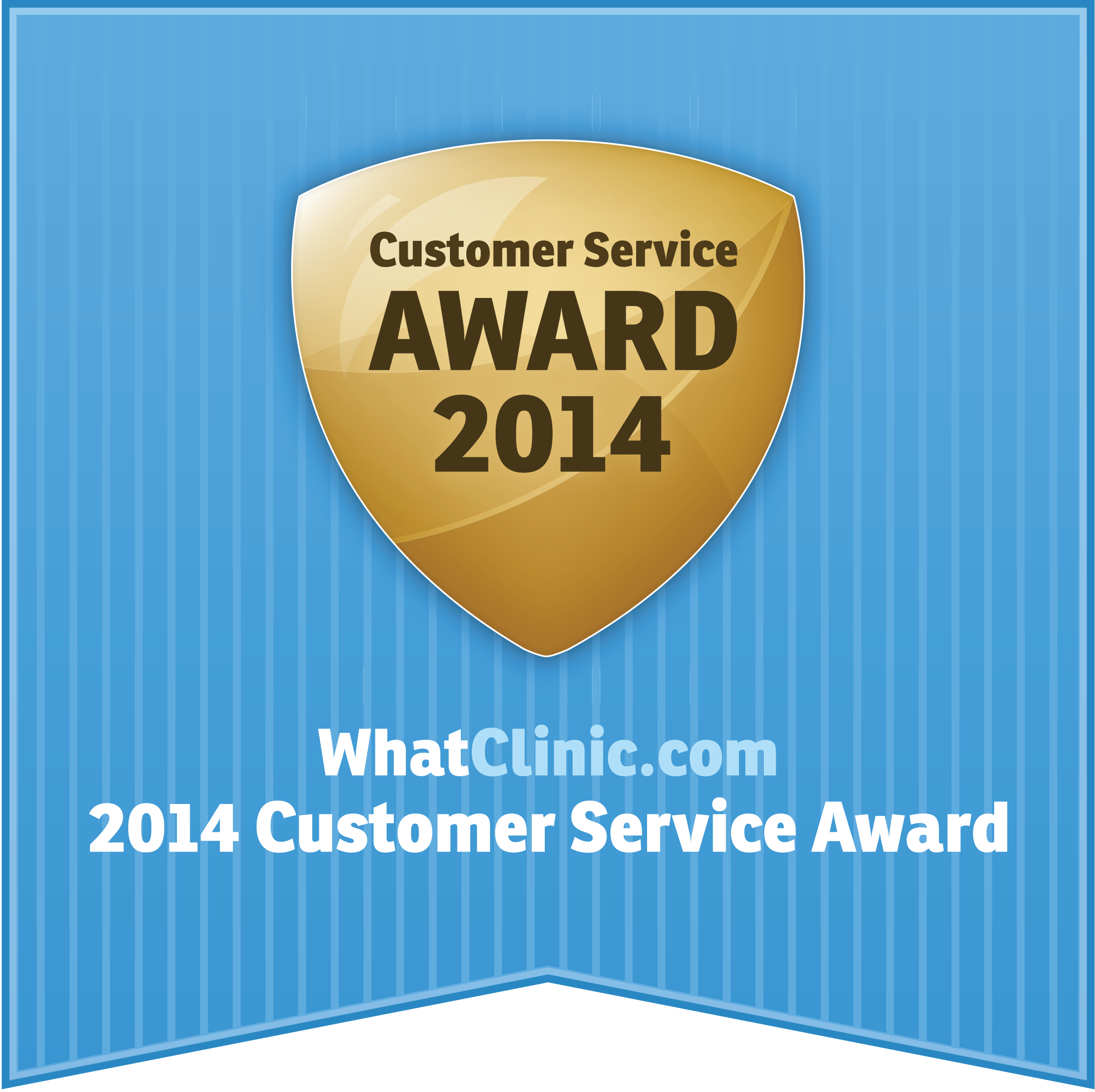 Customer Service award winning physio 2014